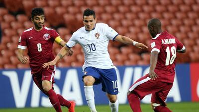 Ivo fue la figura de los portugueses al marcar un doblete en el triunfo...
