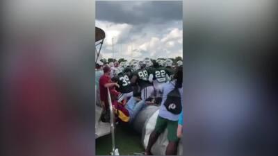 ¡Aún no inicia la temporada! Redskins y Jets ya protagonizaron una batalla campal