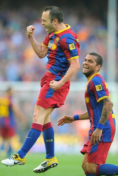 'Don Andrés' culminó una gran jugada de los suyos para el 1-0.