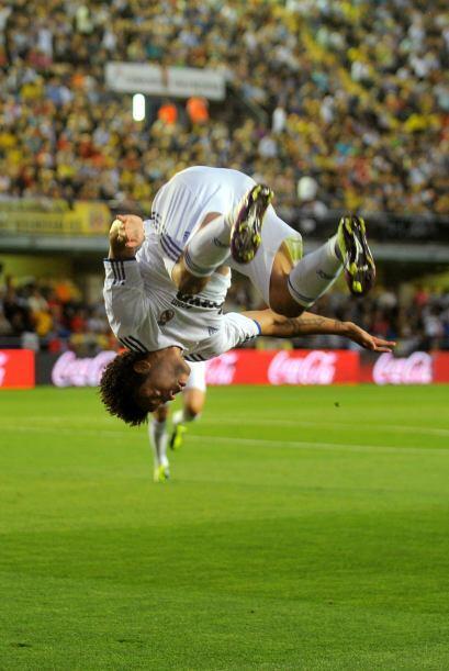 El zurdo marcó el primer gol madridista y lo festejó de este peculiar modo.
