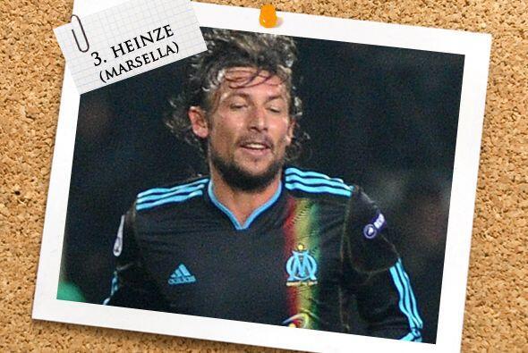 Junto a él, el argentino Gabriel Heinze fue un roble con el Marsella en...