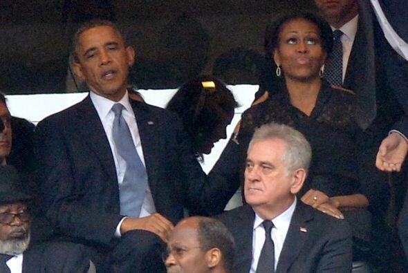 El presidente de Estados Unidos, Barack Obama estuvo acompañado de su es...