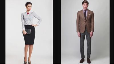 Vestuario adecuado para que hombres y mujeres asistan a una entrevista de trabajo