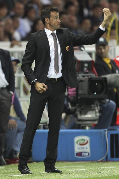 Y miren las caras que hacía Luis Enrique durante el partido en el que su...