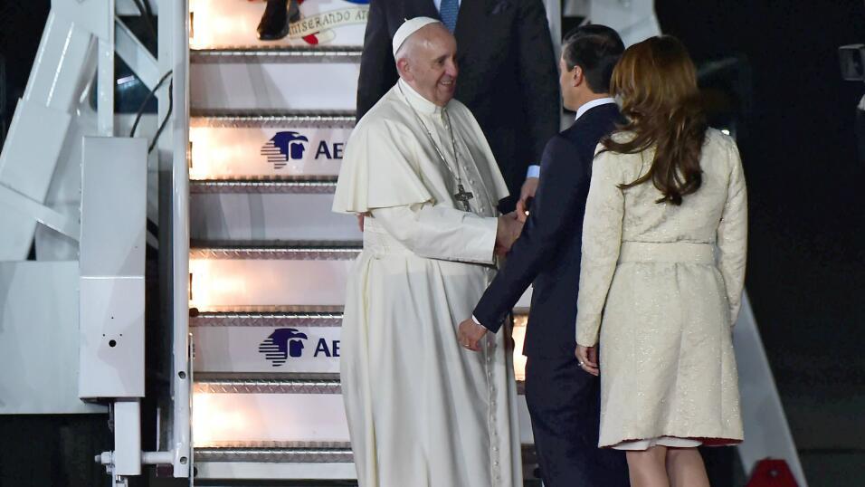 Papa Francisco llega México
