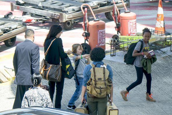 Viajaron sin guardaespaldas y sólo con una niñera y un acompañante.
