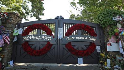 Entrada de Neverland, el rancho que perteneció a Michael Jackson
