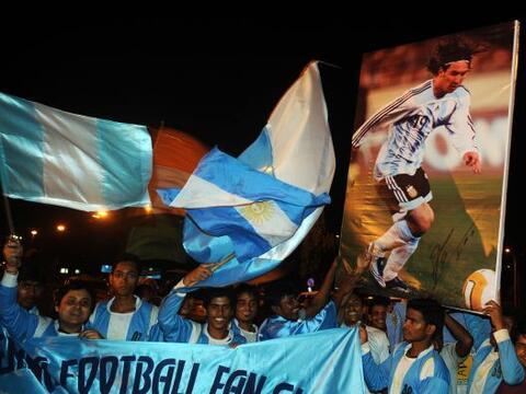 Argentina llegó a la India para enfrentar en un partido amistoso...