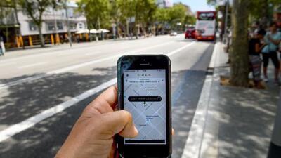 Aplicación con la que solicitas los servicios de Uber.