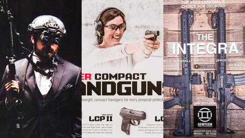 Algunos fragmentos de anuncios de armas de fuego y complementos publicad...