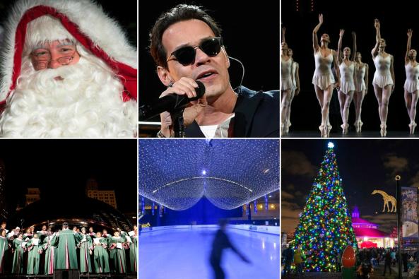 Concierto de Marc Anthony, carrera de Speedos de Santa Claus, villancico...