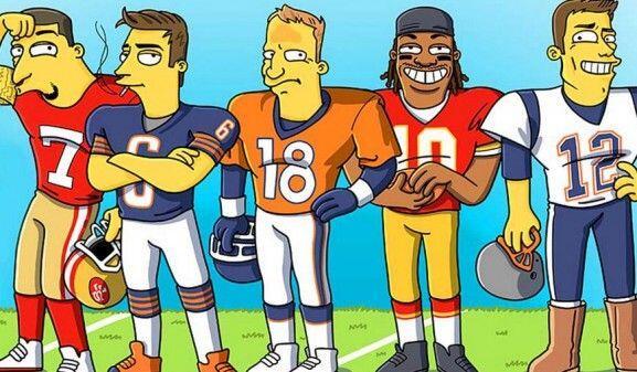 El artista Adrien Nordaem 'simpsonizó' a nueve jugadores de la NFL como...