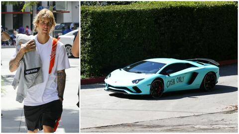 Justin Bieber y Lamborghini vandalizado