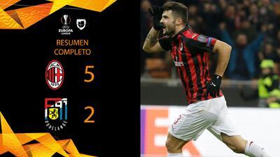 Milan 5-2 Dudelange - GOLES Y RESUMEN - Grupo F - UEFA Europa League