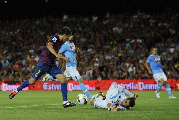 David Villa, de los jugadores que fueron titulares, se perdió un gol can...