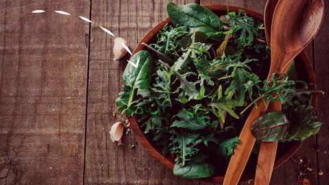El kale y las espinacas te dan una dosis de endorfinas