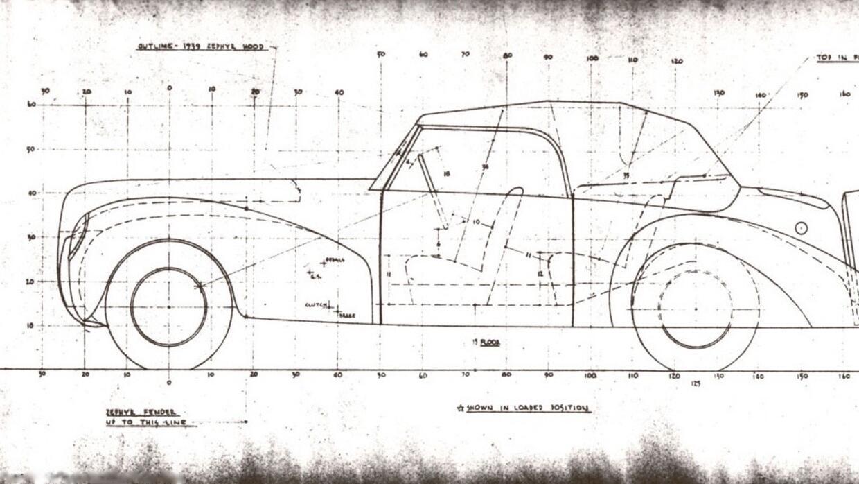 Diseño original de 1938 del 'Special Convertible Coupe', el auto...