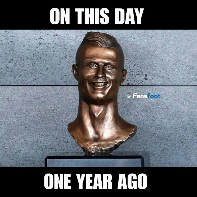 El nuevo busto de Cristiano no se salvó de los divertidos memes 29572217...