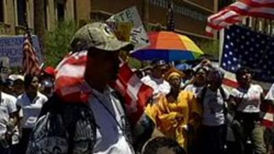Imagen de la manifestación durante la audiencia del Jueves 22 de Julio.