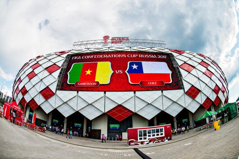 El ballet de Chile llegó a Moscú: 2-0 a Camerún Estadio de Spartak de Mo...