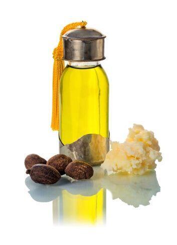 Al aceite o manteca de Karité se le atribuyen propiedades suavizantes, h...