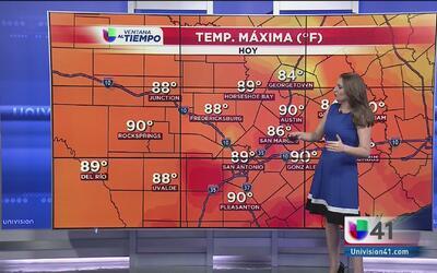 La lluvia trajo disminución de temperaturas en el área de San Antonio