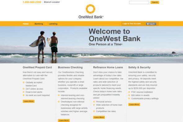 11. ONEWEST BANK   Sector de la industria: Finanzas.  Ejemplos de puesto...