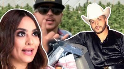 Con pistola en mano el supuesto novio de Mayeli Alonso enseña gran cultivo de marihuana