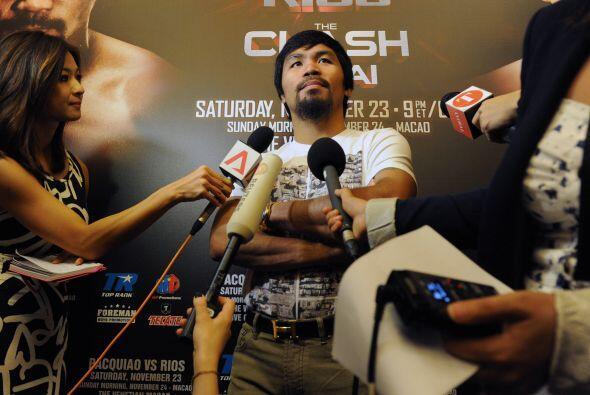 Pacquiao comentó que aún le quedan tres años dentro del boxeo profesiona...