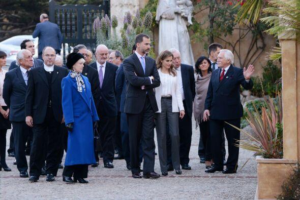 El Príncipe Felipe y la Princesa Letizia visitaron La Misi&oacute...