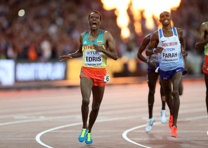 El grito de la victoria de Muktar Edris en los 5,000 metros planos, ganá...