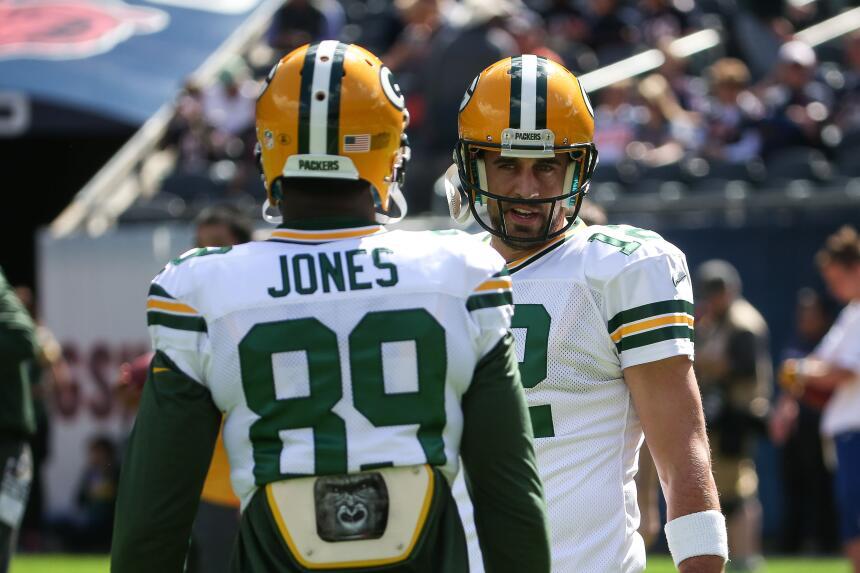 La dupla Aaron Rodgers-James Jones dio frutos en el partido que ganaron...