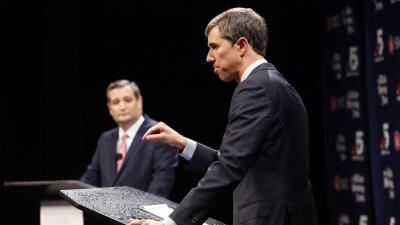 Dreamers, brutalidad policial y Trump: lo más destacado del primer debate entre Ted Cruz y Beto O'Rourke
