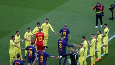 Villarreal sí le hizo pasillo de campeón a Barcelona, que lo derrotó 5-1 en la Liga