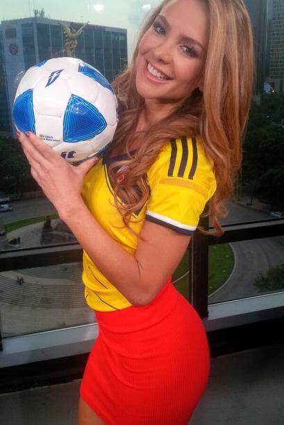 """""""¡Vamos colombia tu puedes!"""", compartió Ximena. (Junio 19, 2014)"""