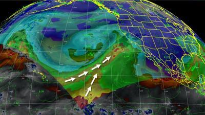 Un río atmosférico podría generar fuertes tormentas en el sur de Califor...