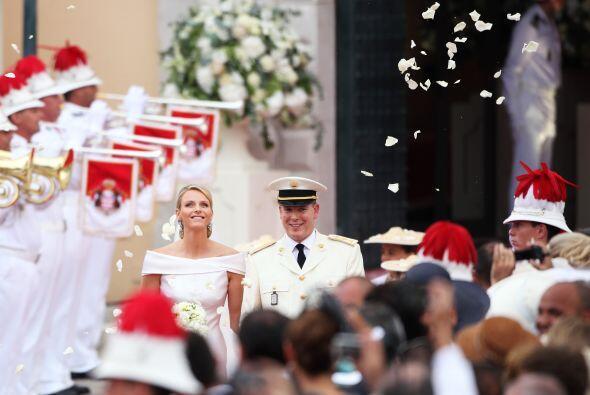 Charlene y el príncipe Alberto se casaron en julio de 2011, en una cerem...
