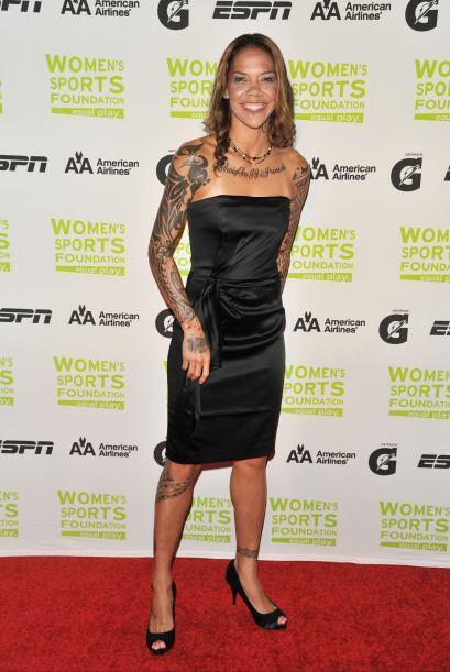 La futbolista estadounidense Natasha Kai integrante del equipo Sky Blue...