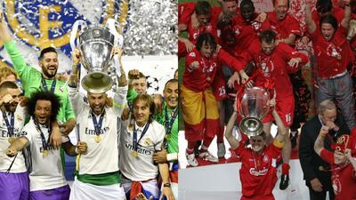 Real Madrid ganó su última Champions en 2017; Liverpool lo hizo en 2005.