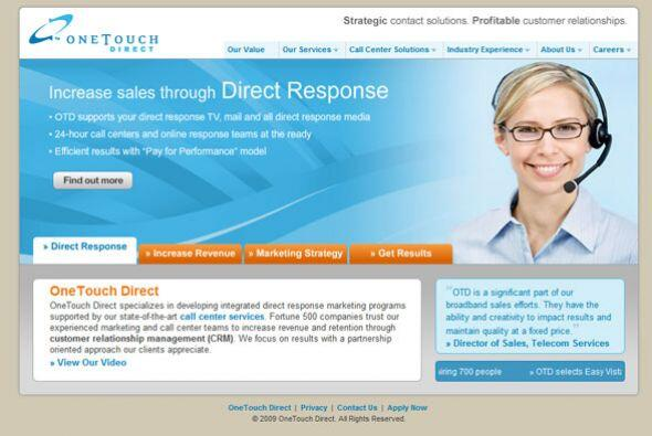 10. ONE TOUCH DIRECT   Sector de la industria: Servicios profesionales/s...