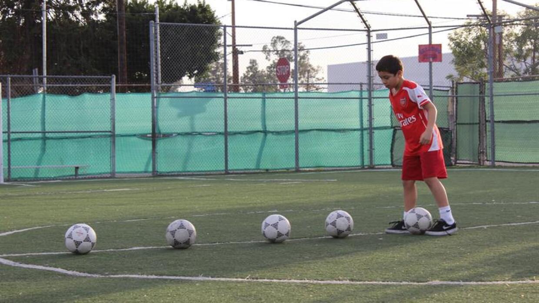 Zen Franco, 9 años, entrena en el Boys & Girls Club del Este Los Ángeles