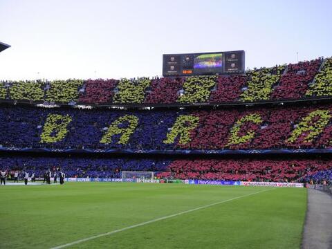 El estadio Camp Nou de Barcelona quería presenciar una remontada...