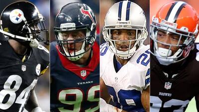 Antonio Brown, J.J Watt, DeMarco Murray y Joe Haden (AP-NFL).