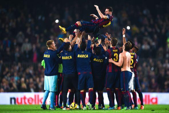 El público en el Camp Nou está incondicionalmente con el argentino, por...