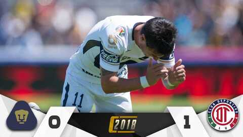 Pumas-Toluca: Jornada 11 del Clausura 2018