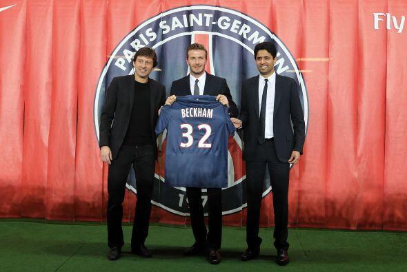 En el 2013 Beckham fitmó un contrato de 5 meses con el París Saint Germa...