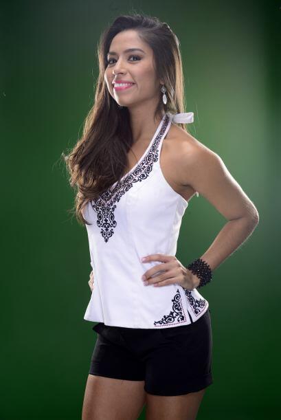 Y es que ella participó el año pasado en Nuestra Belleza Latina.