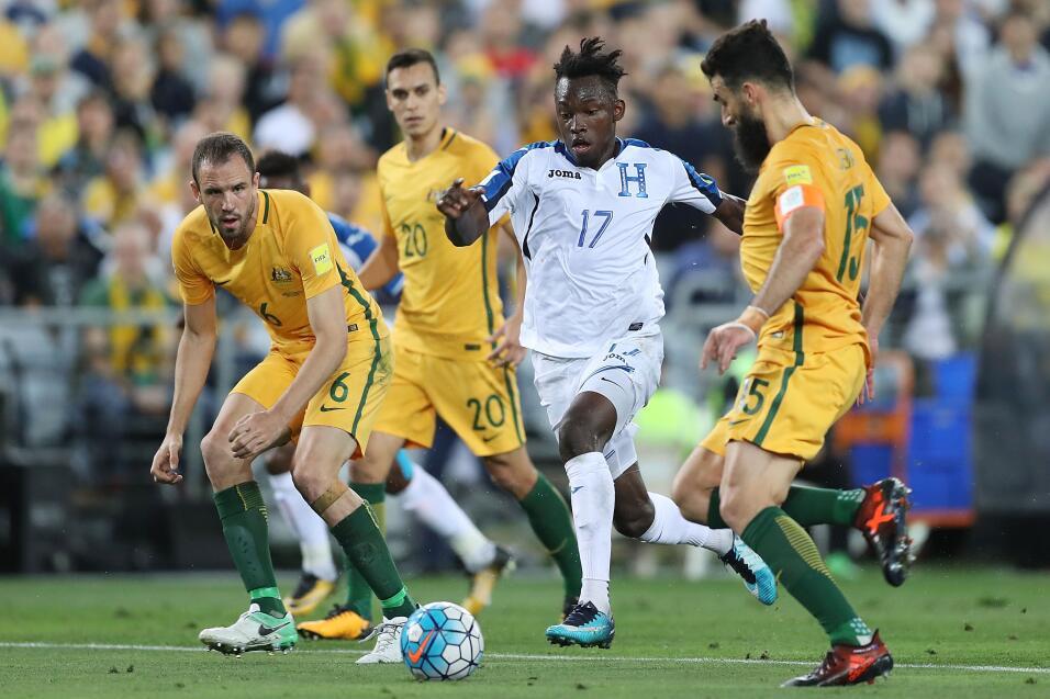 En el último minuto del partido, Alberth Elis marcó el gol del honor par...