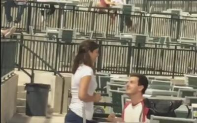 Aficionado al béisbol sufre desgarrador rechazo durante su propuesta mat...