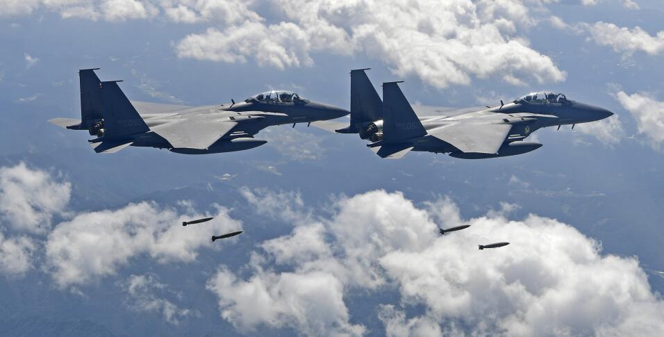 Aviones sobre Corea del Sur